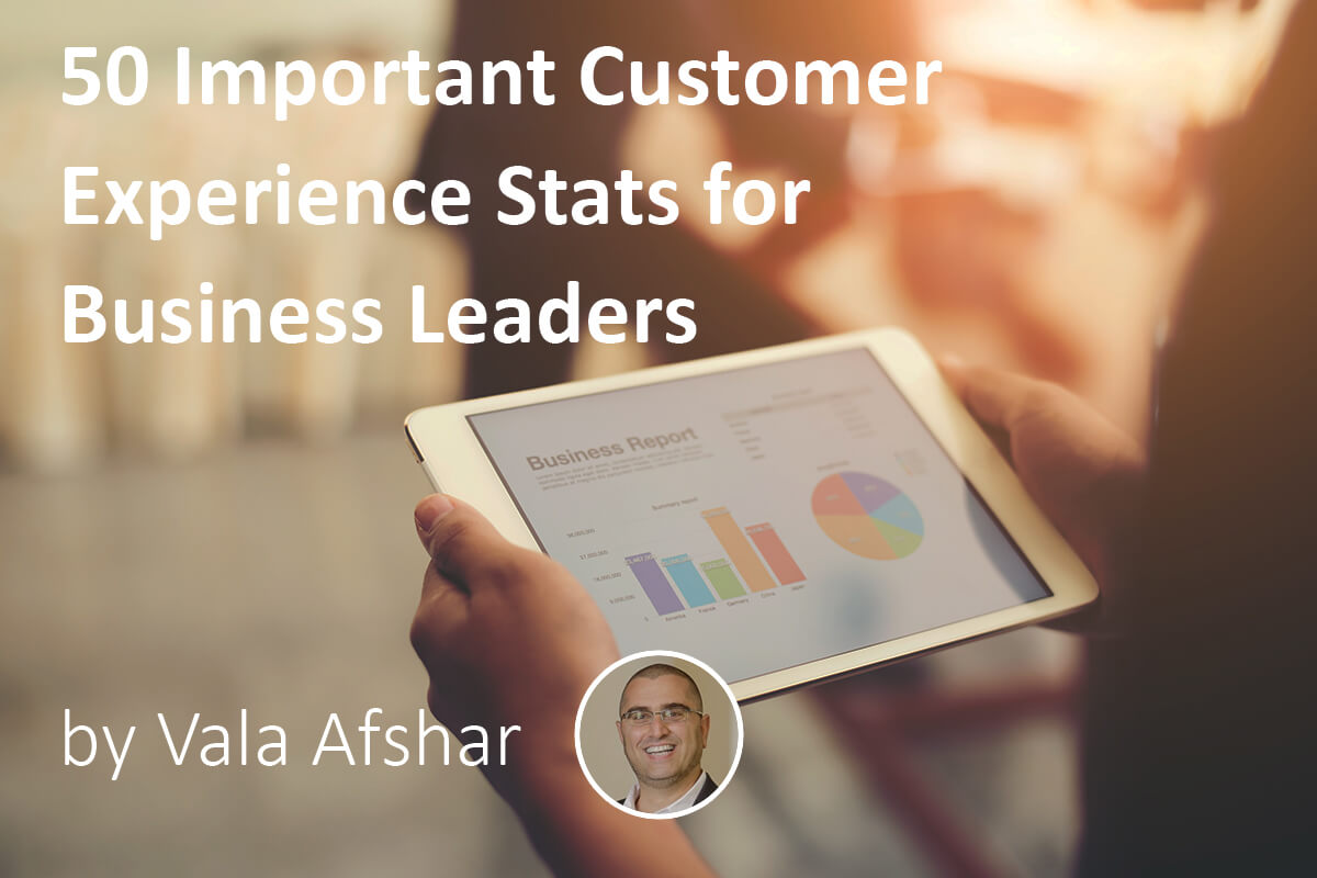 important customer experience stats for business leaders
